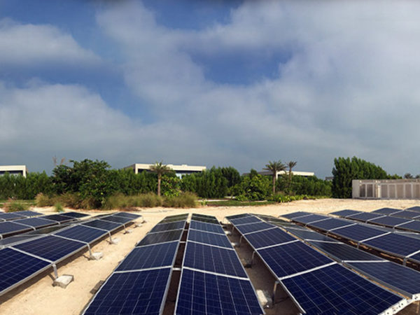 Enerwhere Solar Installation on Zaya Nurai Island