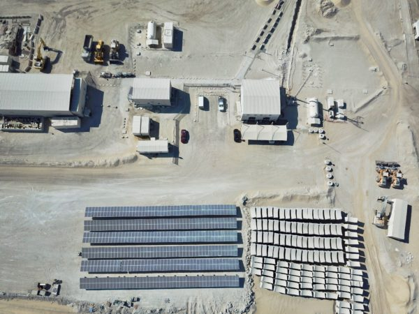 Enerwhere Solar System at Al Dhafra Concrete Crushing Plant