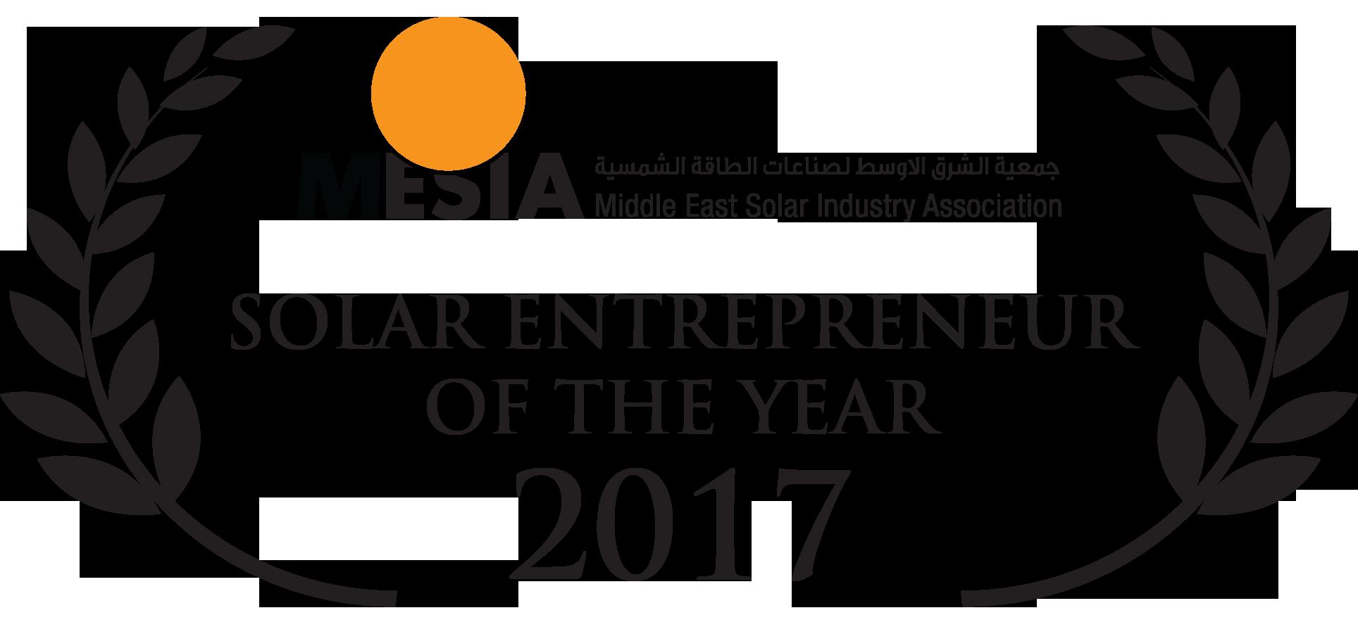 2017 Solar Entrepreneur of the Year Enerwhere Daniel Zywietz