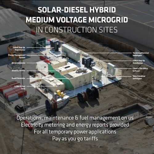 Solar-Diesel Hybrid Microgrid Temporary Power