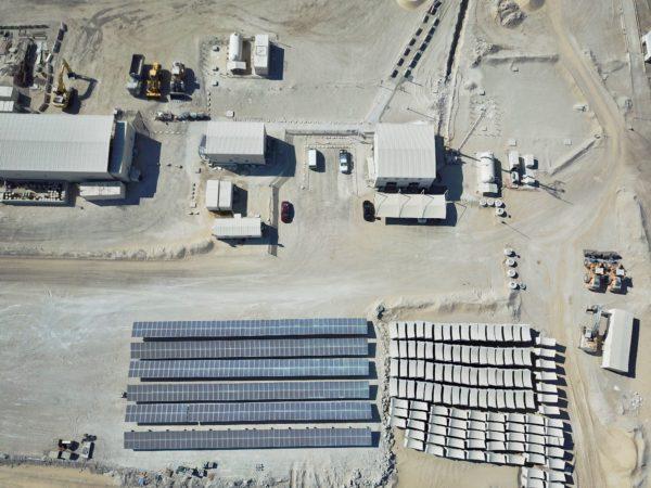 Enerwhere Solar System at Al Dhafra Concrete Crushing Plant